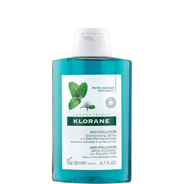 KLORANE Detox Shampoo with Organic Aquatic Mint for Pollution-Exposed Hair 200ml