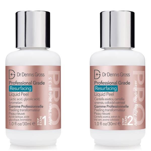 Dr Dennis Gross Skincare Professional Grade Resurfacing Liquid Peel (2 Steps 30ml)
