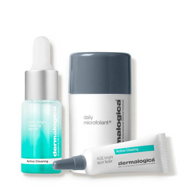 Dermalogica Active Clearing Clear and Brighten Kit 0.45 oz (Worth $75)