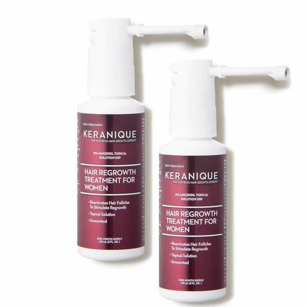 Keranique Hair Regrowth Treatment for Women - 2 Minoxidil Topical Solution (2 piece - $60 Value)