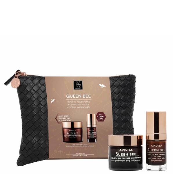 APIVITA Queen Bee Holistic Age Defense Night Cream and Queen Bee Holistic Age Defense Eye Cream Gift Set