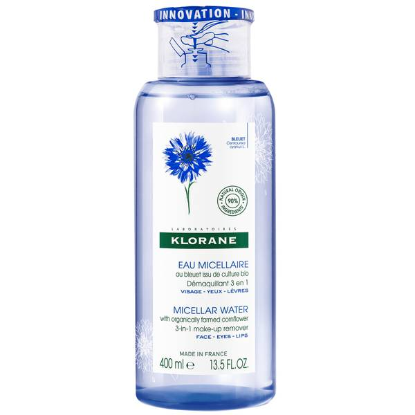 KLORANE Soothing Micellar Cleanser med ekologisk blåklint för känslig hud 400ml
