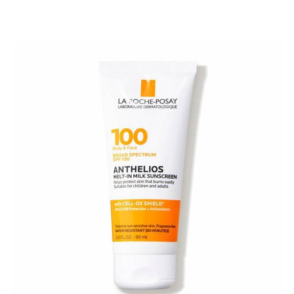 La Roche-Posay Anthelios Melt-in Milk Body Face Sunscreen Lotion Broad Spectrum SPF 100 (3 fl. oz.)