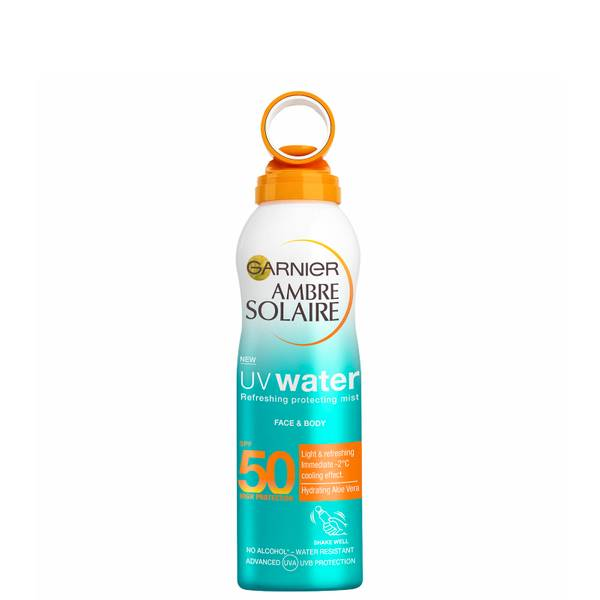 Garnier Ambre Solaire UV Water Clear Sun Cream SPF50 Mist 200ml
