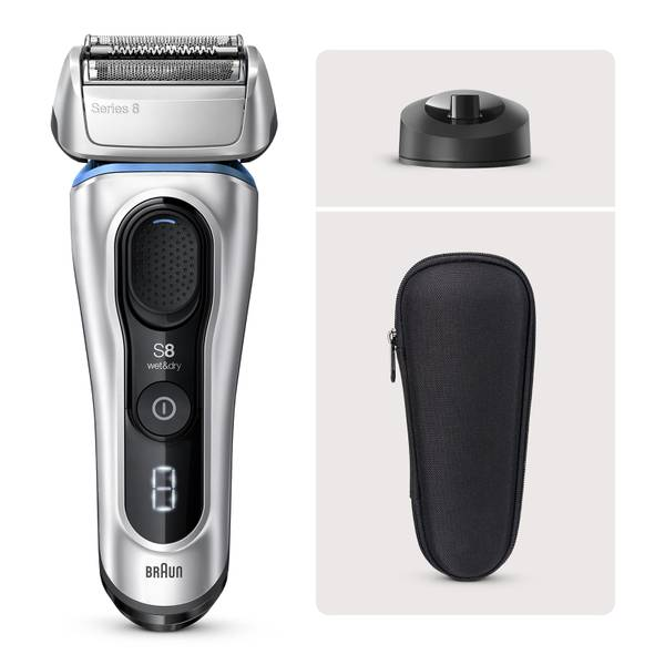 Braun Series 8 8350s Electric Shaver, Silver