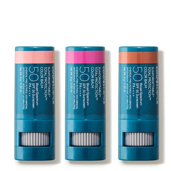 Colorescience Sunforgettable® Total Protection™ Color Balm SPF 50 Collection - Blush/Berry/Bronze (3 piece - $87 Value)