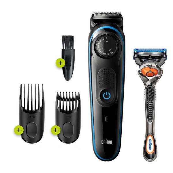 Braun Beard Trimmer 3 BT3240, Black/Blue