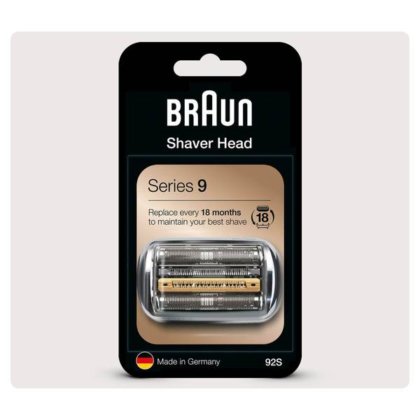 Braun Series 9 92S Electric Shaver Head Replacement, Silver