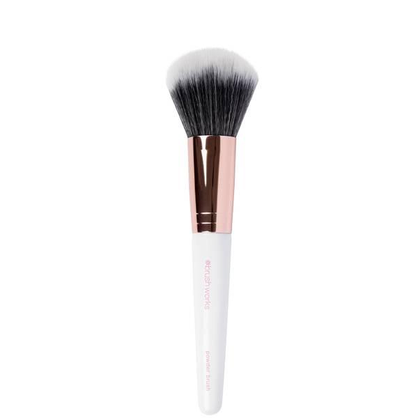 brushworks Powder Brush - White/Gold