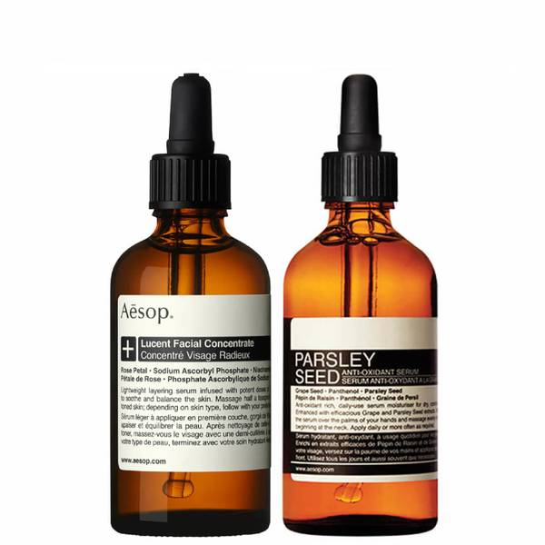 Aesop Lucent Concentrate and Parsley Seed Serum Duo (Worth £140.00)