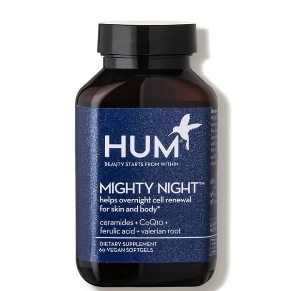 HUM Nutrition Mighty Night Overnight Renewal Supplement (60 Vegan Softgels, 30 Days)