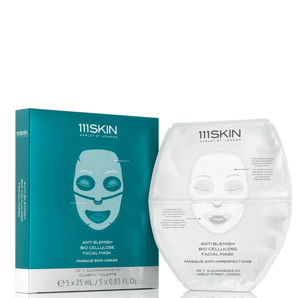 111SKIN Anti Blemish Bio Cellulose Facial Mask (5 count)