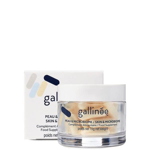 Gallinée Skin and Microbiome Food Supplement: A Month of Pre, Pro and Postbiotics (30 Caps)