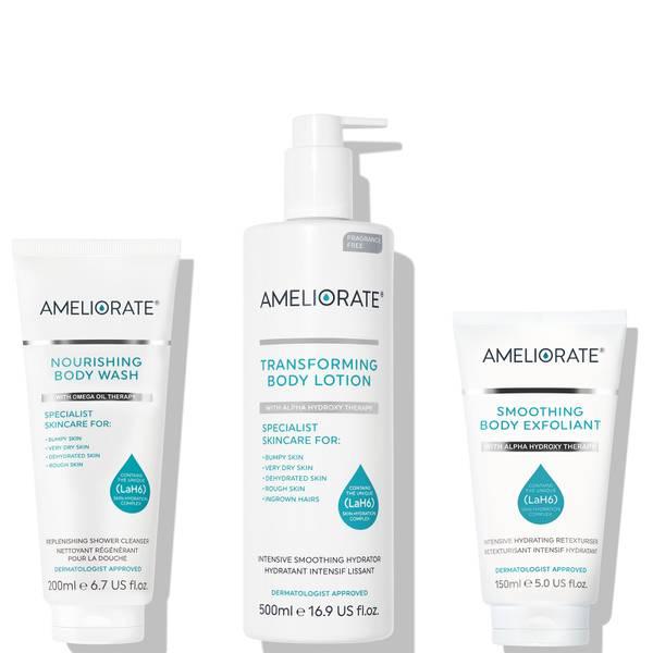 AMELIORATE Smooth Skin Supersize Bundle (Fragrance Free) (Worth £67.00)