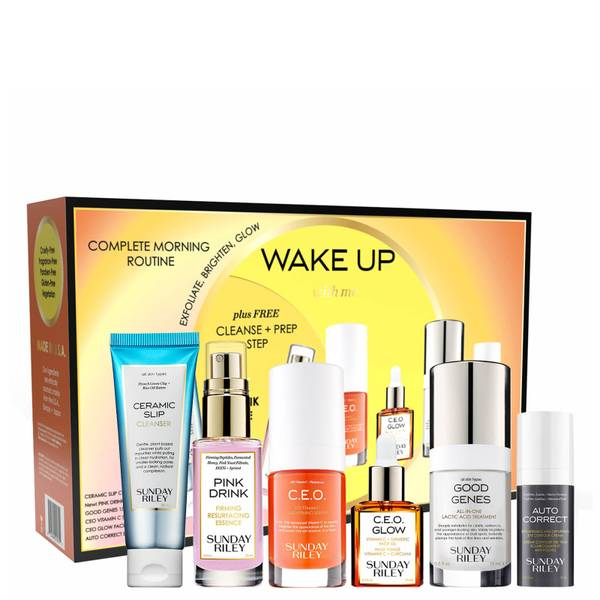 Sunday Riley Wake Up With Me: Complete Morning Skincare Routine 6 piece - $158 Value