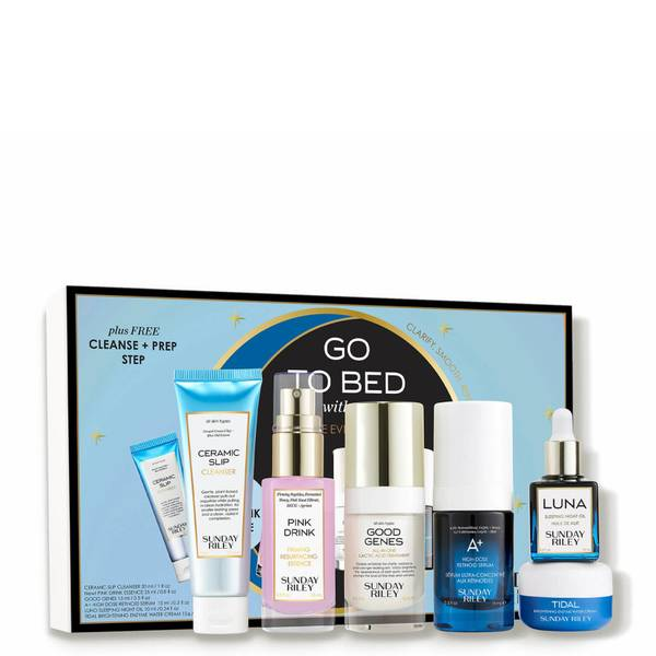 Sunday Riley Go To Bed With Me: Complete Evening Skincare Routine (6 piece - $154 Value)