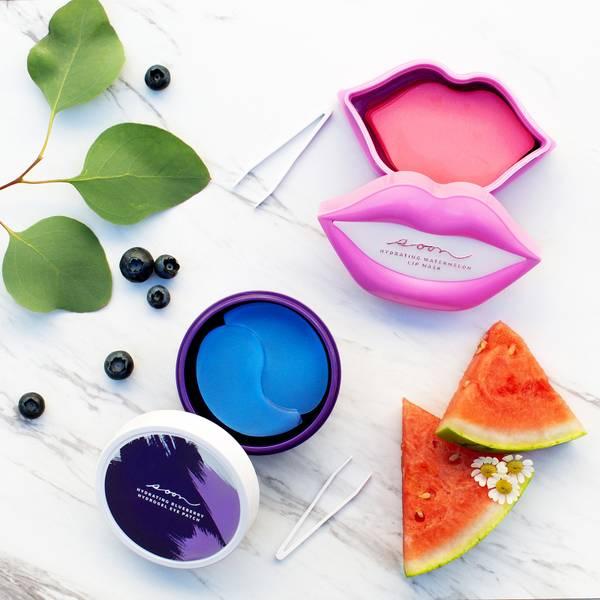 Soon Skincare Seoul Mates Duo – Watermelon Lip Jar and Blueberry Eye Jar (Worth $172.00)