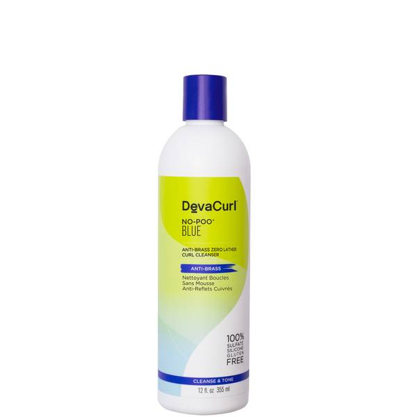 DevaCurl No Poo Blue Anti-Brass Zero Lather Curl Cleanser 355ml