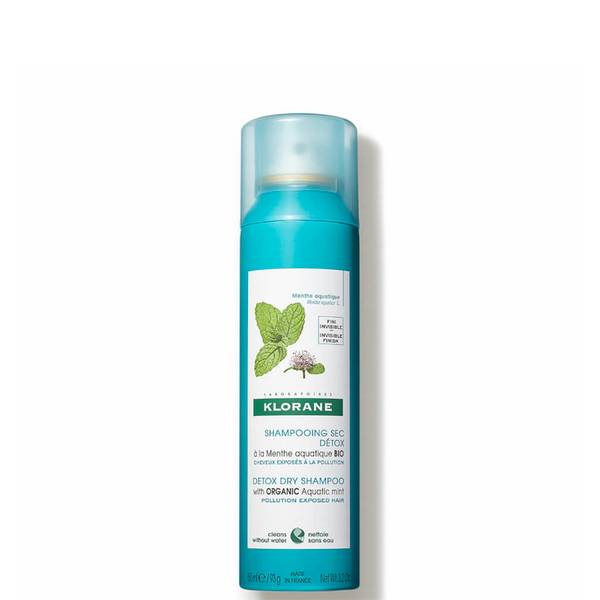 KLORANE Detox Dry Shampoo with Organic Aquatic Mint for Pollution-Exposed Hair 150ml