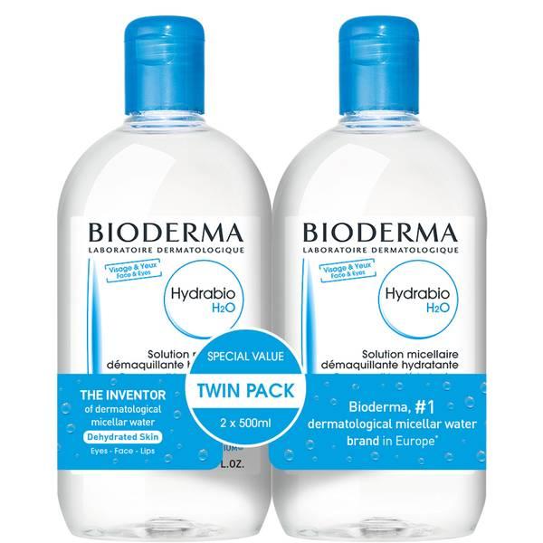 Bioderma Hydrabio Cleansing Micellar Water Dehydrated Skin Duo Pack