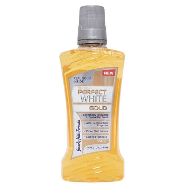 Beverly Hills Formula Perfect White Gold Mouthwash 500ml