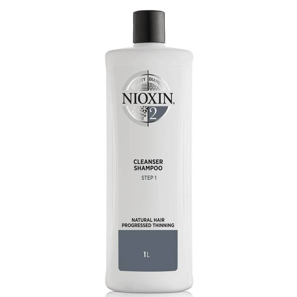 Nioxin System 2 Cleanser Shampoo for Natural Hair with Progressed Thinning 33.8 oz