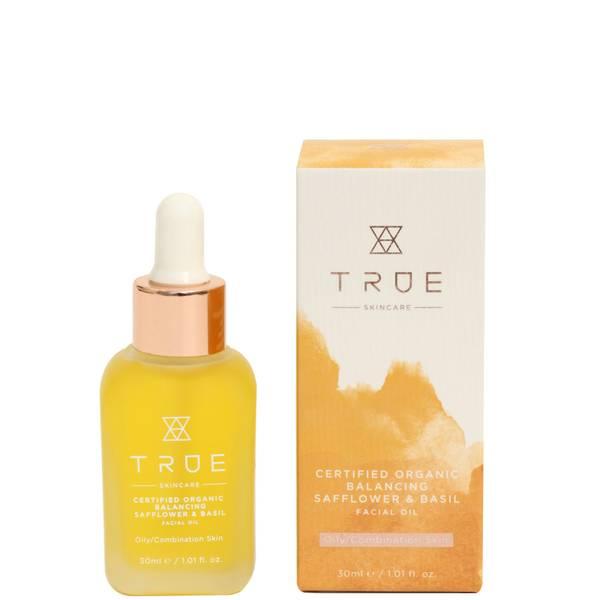 TRUE Skincare Certified Organic Balancing Safflower and Basil Facial Oil 30ml