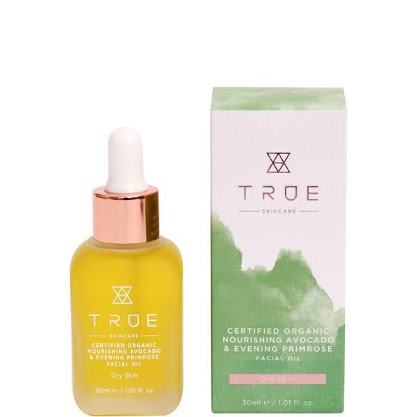 TRUE Skincare Certified Organic Nourishing Avocado and Evening Primrose Facial Oil 30ml