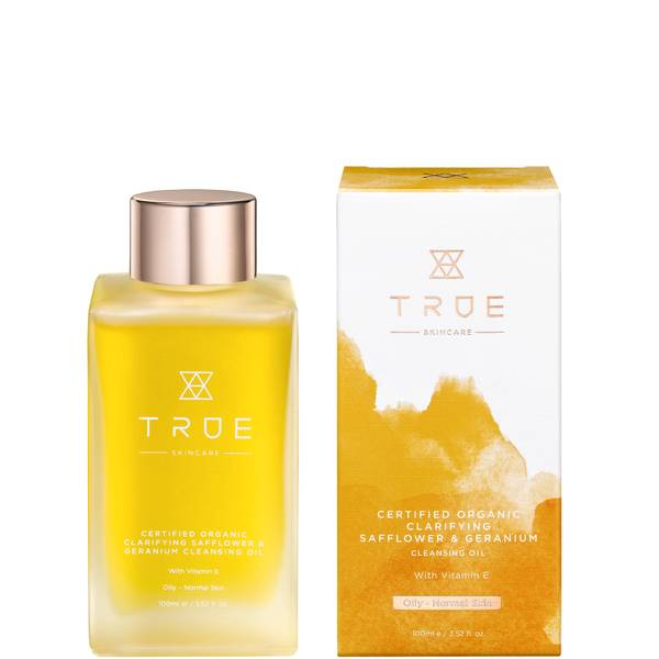 TRUE Skincare Certified Organic Clarifying Safflower and Geranium Cleansing Oil 100ml