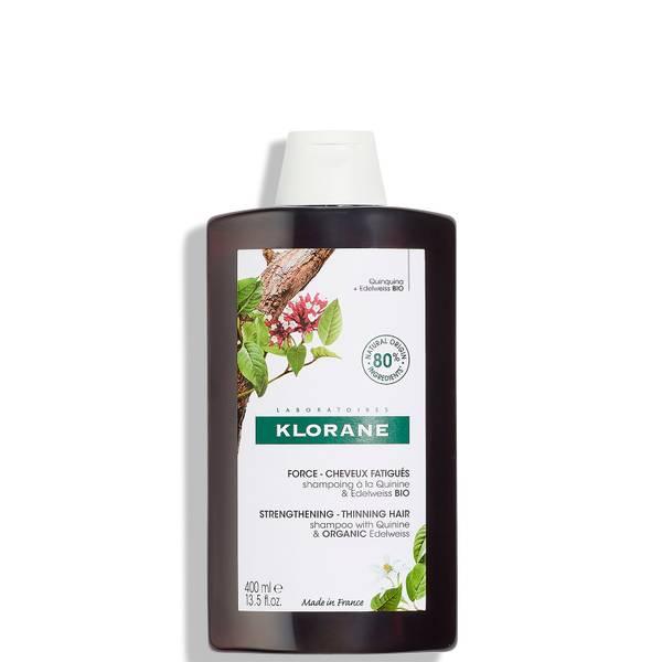 KLORANE Ενισχυτικό σαμπουάν με κινίνη και βιολογικό Edelweiss για αραιά μαλλιά 400ml