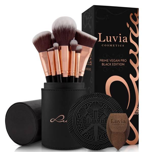 Luvia Prime Vegan Pro Brushes Set - Black Edition