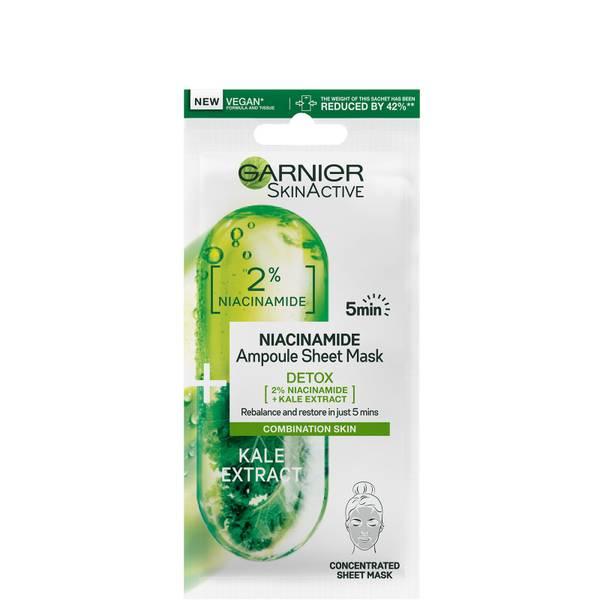 Garnier SkinActive Detox Ampoule Sheet Mask - Kale and 2% Niacinamide 15g