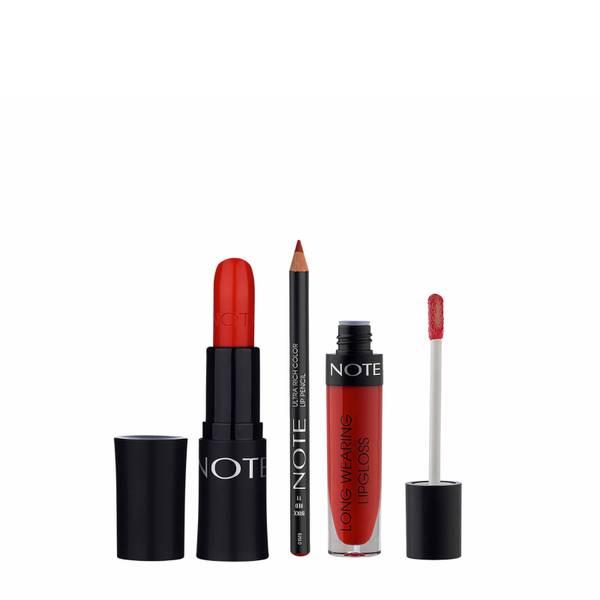 Note Cosmetics Ruby Red Lip Trio
