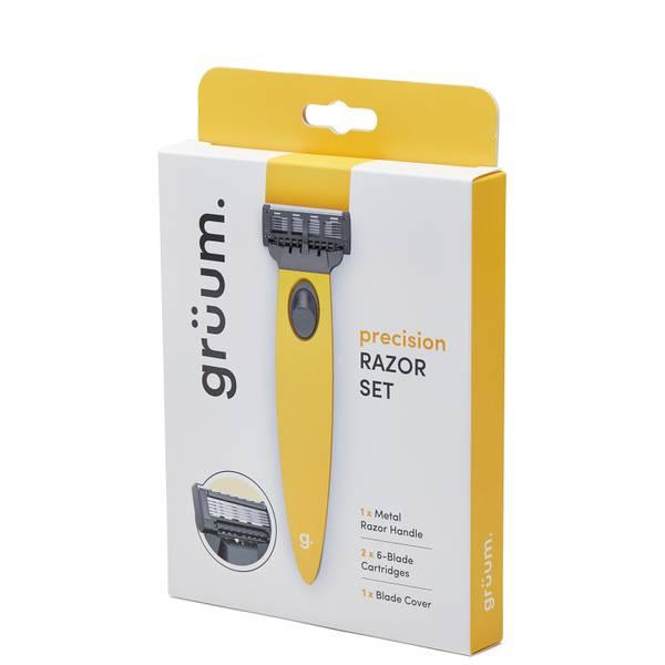 grüum Precision Razor Set - Citrus Yellow