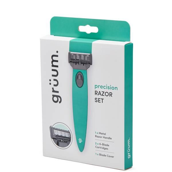 grüum Precision Razor Set - Aqua Green