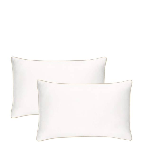 Iluminage Skin Rejuvenating Anti-Aging Copper Pillowcase Duo - Ivory White