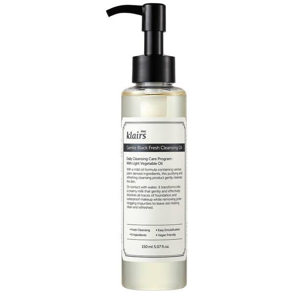 Dear, Klairs Gentle Black Fresh Cleansing Oil 150ml