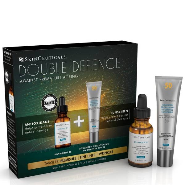SkinCeuticals Double Defence Silymarin CF Kit for Oily, Blemish-Prone Skin