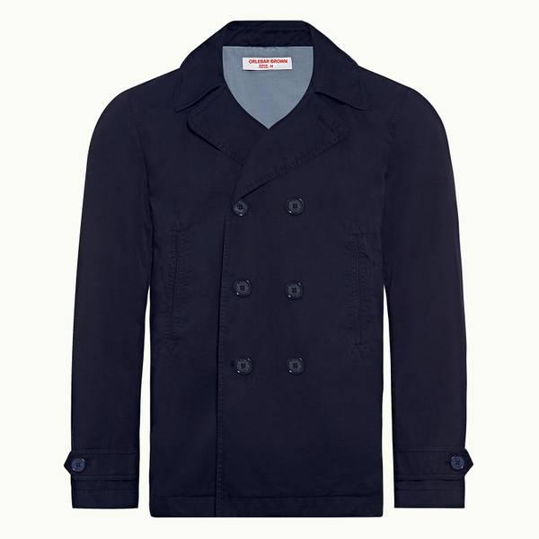 Halbert 테일러드 핏 더블 브레스티드(두줄단추) 재킷 네이비