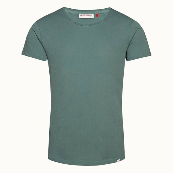 Ob-T 테일러드 핏 크루넥 티셔츠 세이지