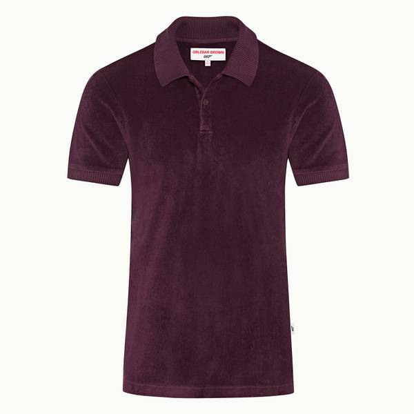 Dr No Towelling Polo 007 Towelling 폴로셔츠 플럼