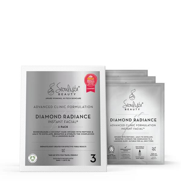 Seoulista Beauty Diamond Radiance Instant Facial Pack (Pack of 3)