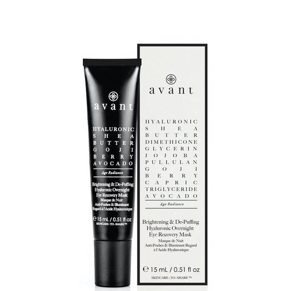 Avant Skincare Brightening and De-Puffing Hyaluronic Overnight Eye Recovery Mask 15ml