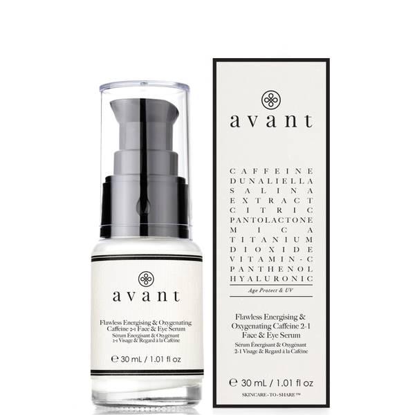 Avant Skincare Flawless Energising and Oxygenating Caffeine 2-1 Face and Eye Serum 30ml