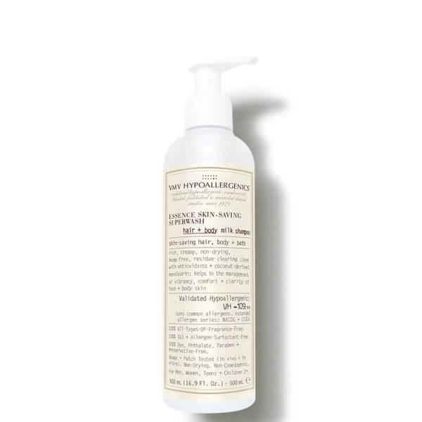 VMV Hypoallergenics Essence Skin-Saving Superwash Hair and Body Milk Shampoo (16.91 fl. oz.)