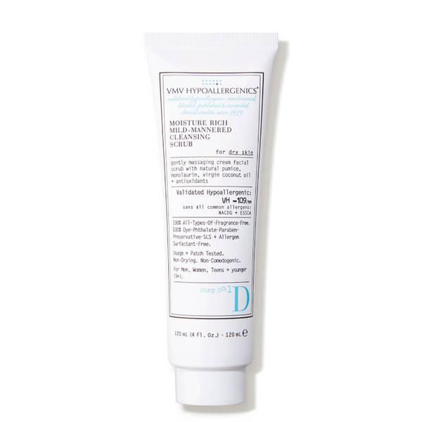 VMV Hypoallergenics Moisture Rich Mild-Mannered Cleansing Scrub for Dry Skin (4 fl. oz.)
