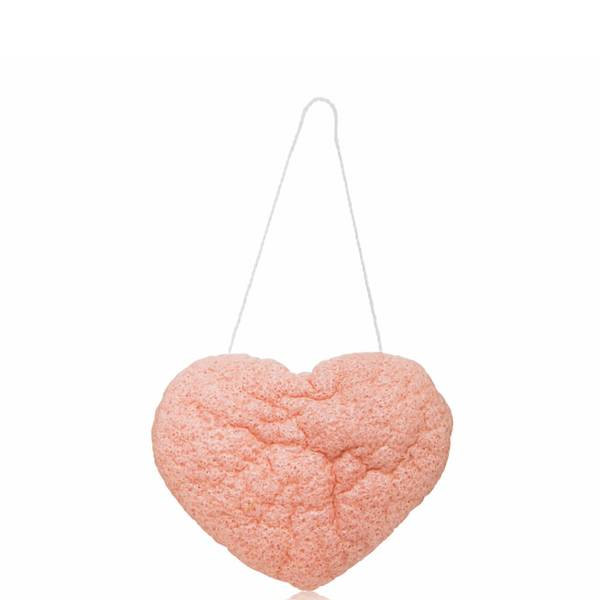 One Love Organics The Cleansing Sponge - French Pink Clay Heart Shape (1 piece)