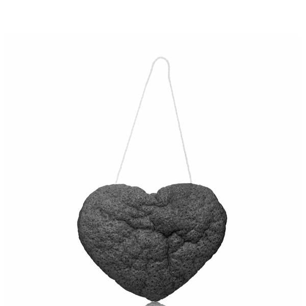 One Love Organics The Cleansing Sponge - Charcoal Heart Shape (1 piece)