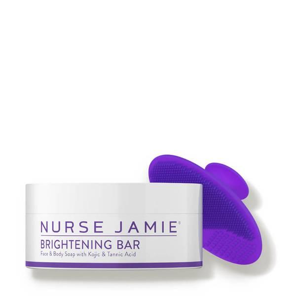 Nurse Jamie BRIGHTENING BAR WITH EXFOLIBRUSH™ SILICONE FACIAL BRUSH 2 oz.