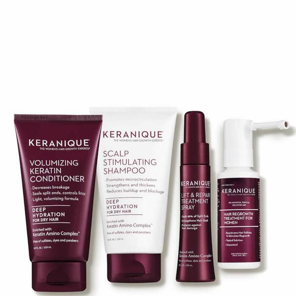 Keranique Deluxe Regrowth Hair System Kit (4 piece - $82 Value)